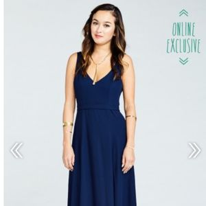 ShowMeYourMumu JENN MAXI DRESS ~ RICH NAVY CRISP